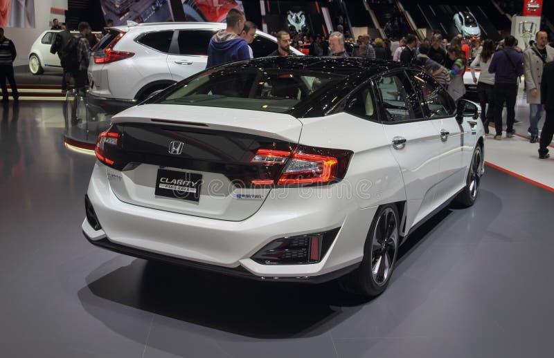 Ελβετία  Γενεύη  Στις 10 Μαρτίου 2018  Σαφήνεια της Honda  Η 88η διεθνής έκθεση αυτοκινήτου στη Γενεύη από 8ο σε 18ο του Μαρτίου  στοκ φωτογραφίες