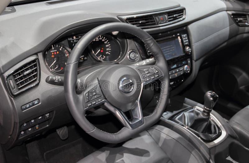 Ελβετία  Γενεύη  Στις 9 Μαρτίου 2019  Χ-ίχνος της Nissan  Η 89η διεθνής έκθεση αυτοκινήτου στη Γενεύη από 7ο σε 17ο του Μαρτίου τ στοκ εικόνα