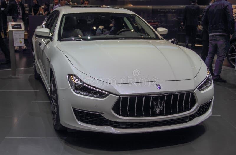 Ελβετία  Γενεύη  Στις 9 Μαρτίου 2019  Maserati Ghibil  Η 89η διεθνής έκθεση αυτοκινήτου στη Γενεύη από 7ο σε 17ο του Μαρτίου του  στοκ εικόνες
