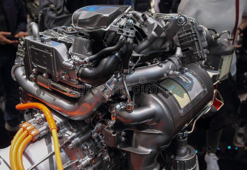 Ελβετία  Γενεύη  Στις 9 Μαρτίου 2019  Mercedes-Benz 4 βούλωμα diesel κυλίνδρων στο υβρίδιο  Η 89η διεθνής έκθεση αυτοκινήτου στη  στοκ φωτογραφία