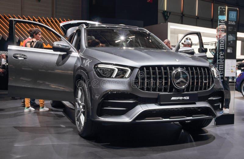 Ελβετία  Γενεύη  Στις 11 Μαρτίου 2019  Mercedes-Benz AMG GLE 53 4 MATIC+  Η 89η διεθνής έκθεση αυτοκινήτου στη Γενεύη από 7ο στοκ εικόνες