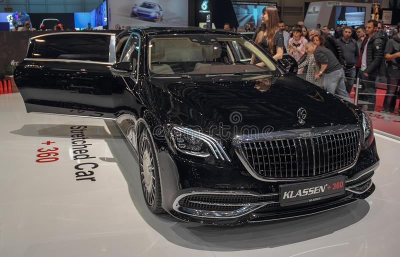 Ελβετία  Γενεύη  Στις 9 Μαρτίου 2019  Mercedes-Benz Klassen +360  Η 89η διεθνής έκθεση αυτοκινήτου στη Γενεύη από 7ο σε 17ο στοκ εικόνα
