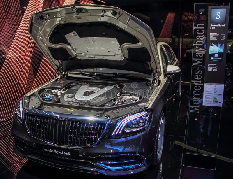Ελβετία  Γενεύη  Στις 9 Μαρτίου 2019  Mercedes-Maybach S 650  Η 89η διεθνής έκθεση αυτοκινήτου στη Γενεύη από 7ο σε 17ο του Μαρτί στοκ φωτογραφία με δικαίωμα ελεύθερης χρήσης