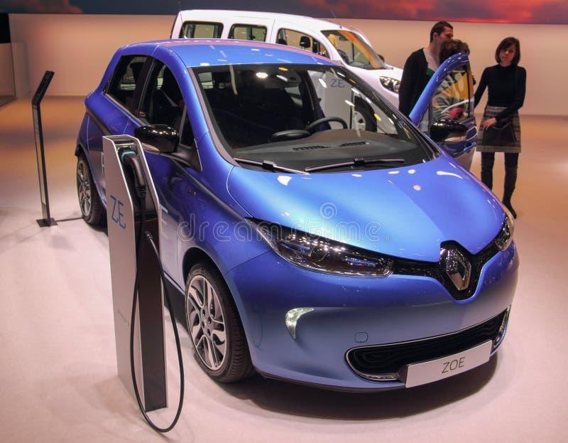 Ελβετία  Γενεύη  Στις 9 Μαρτίου 2019  Renault ΖΩΗ Z ?  Η 89η διεθνής έκθεση αυτοκινήτου στη Γενεύη από 7ο σε 17ο του Μαρτίου του  στοκ εικόνες με δικαίωμα ελεύθερης χρήσης