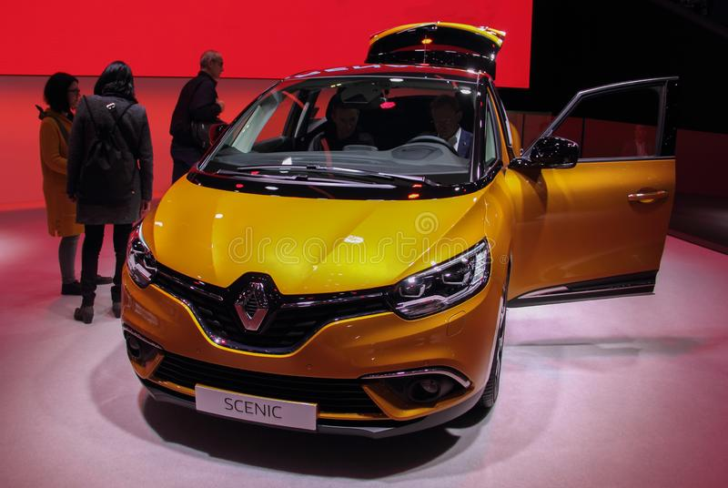 Ελβετία  Γενεύη  Στις 9 Μαρτίου 2019  Renault φυσική  Η 89η διεθνής έκθεση αυτοκινήτου στη Γενεύη από 7ο σε 17ο του Μαρτίου του 2 στοκ φωτογραφία με δικαίωμα ελεύθερης χρήσης