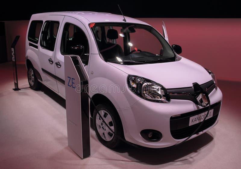 Ελβετία  Γενεύη  Στις 9 Μαρτίου 2019  Renault Kangoo Ζ ?  Η 89η διεθνής έκθεση αυτοκινήτου στη Γενεύη από 7ο σε 17ο του Μαρτίου, στοκ εικόνες