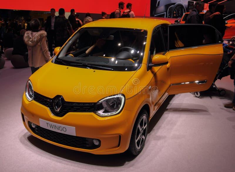 Ελβετία  Γενεύη  Στις 9 Μαρτίου 2019  Renault Twingo  Η 89η διεθνής έκθεση αυτοκινήτου στη Γενεύη από 7ο σε 17ο του Μαρτίου του 2 στοκ εικόνες