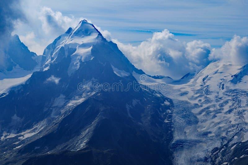 Ελβετικά όρη: Ο παγετώνας Piz Palà ¼ στα βουνά ομάδας Bernina κοντά σε Pontresina στο ανώτερο Engadin στοκ φωτογραφίες