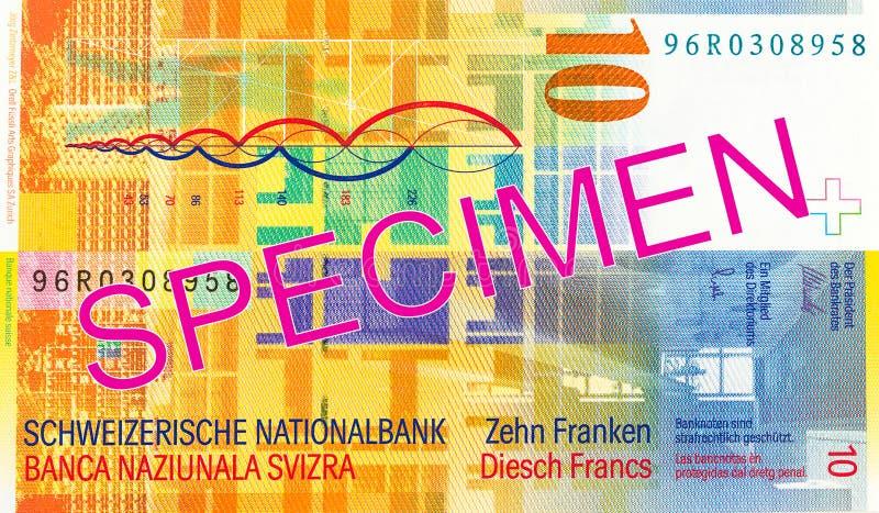 ελβετική αντιστροφή σημειώσεων φράγκων 10 στοκ φωτογραφίες με δικαίωμα ελεύθερης χρήσης