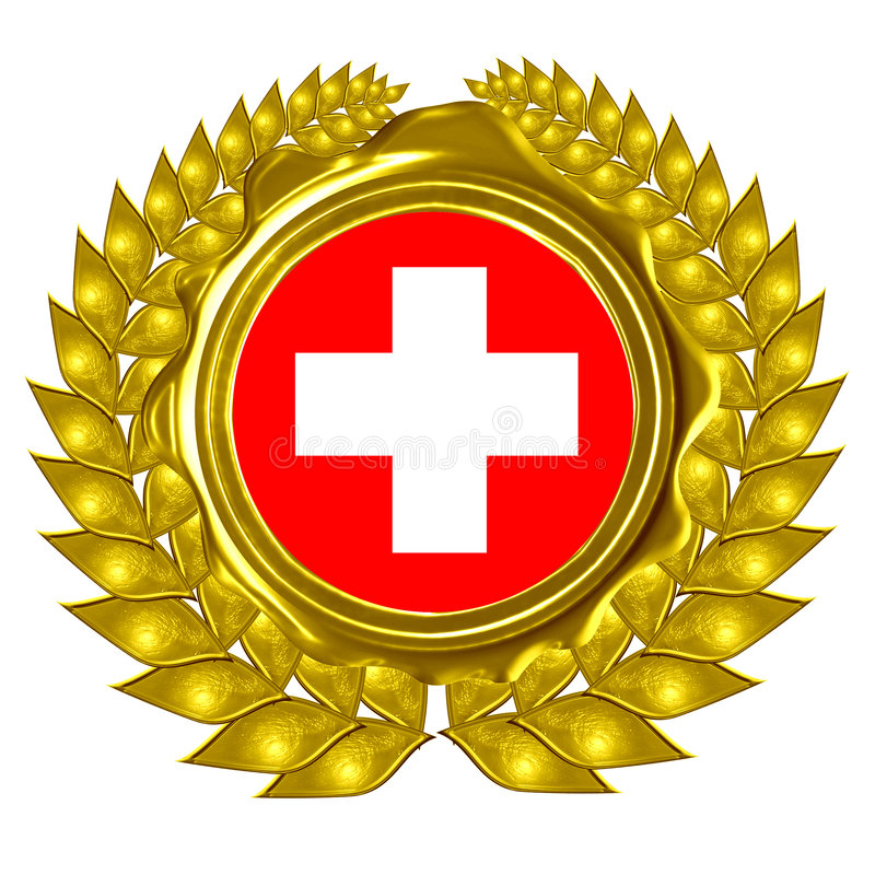 Ελβετική σημαία απεικόνιση αποθεμάτων