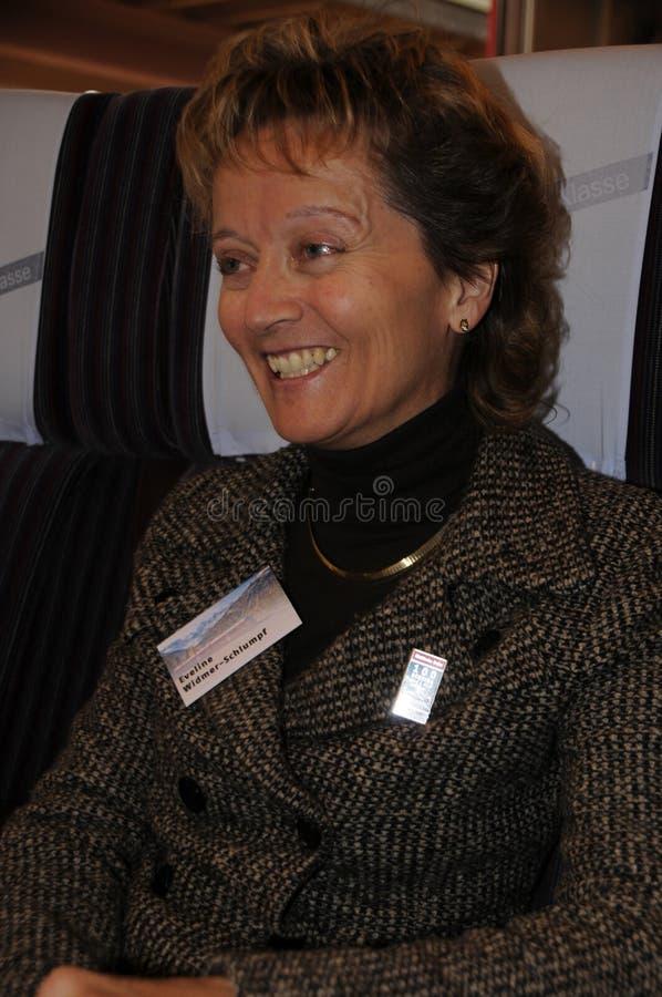 Ελβετικοί καγκελάριος και υπουργός Δικαιοσύνης Eveline widmer-Schlumpf στοκ φωτογραφία με δικαίωμα ελεύθερης χρήσης