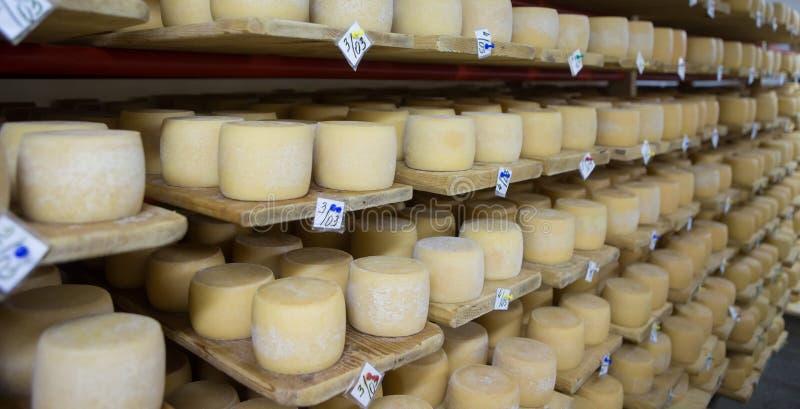 Ελβετικό κελάρι τυριών στοκ εικόνες