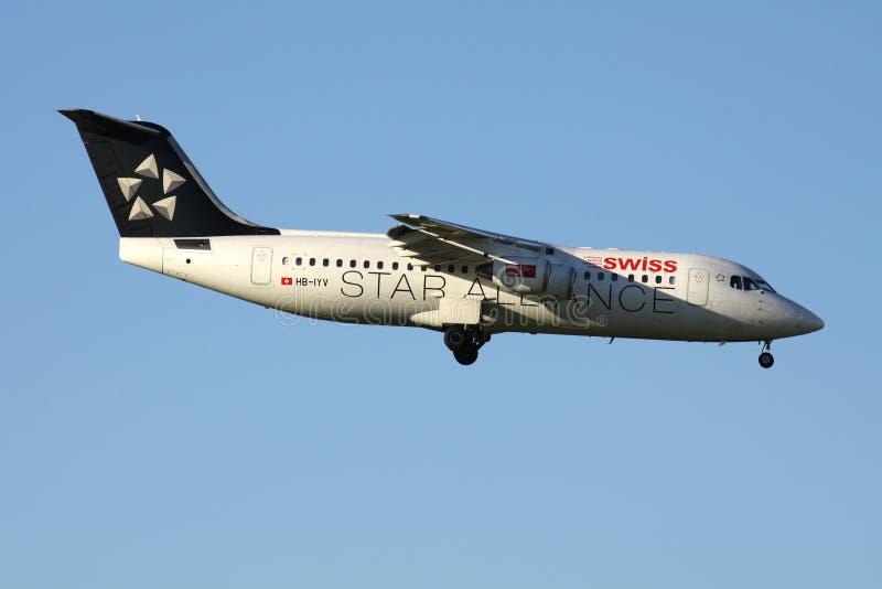 Ελβετικό Avro RJ100 στοκ φωτογραφία με δικαίωμα ελεύθερης χρήσης
