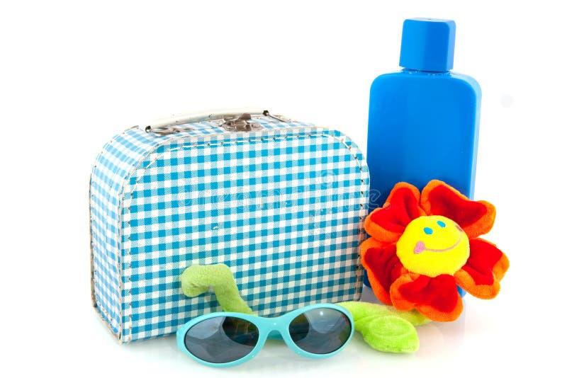 ελεγμένη βαλίτσα στοκ εικόνες