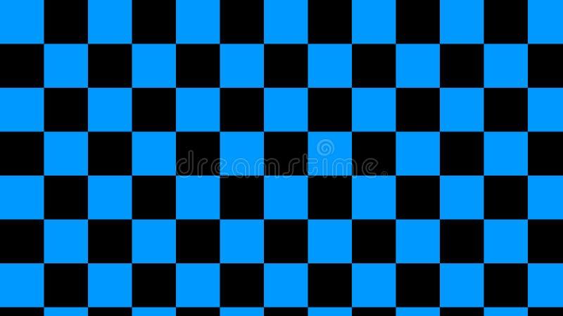 Ελεγμένη θάλασσα & μαύρη ελαφριά θάλασσα τετραγώνων και βαθιά μαύρο άνευ ραφής σχέδιο στοκ εικόνα