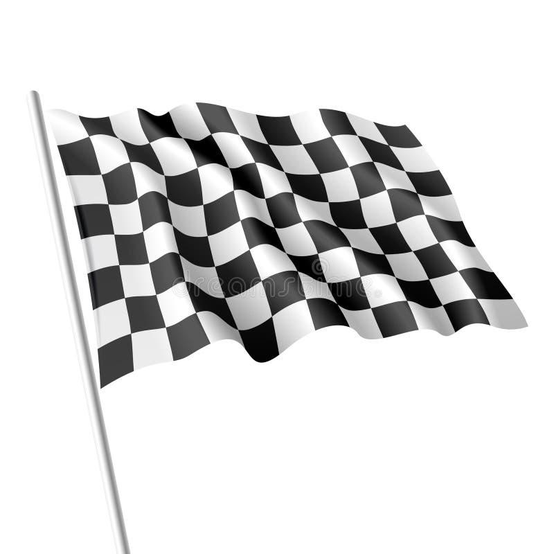ελεγμένη σημαία διανυσματική απεικόνιση