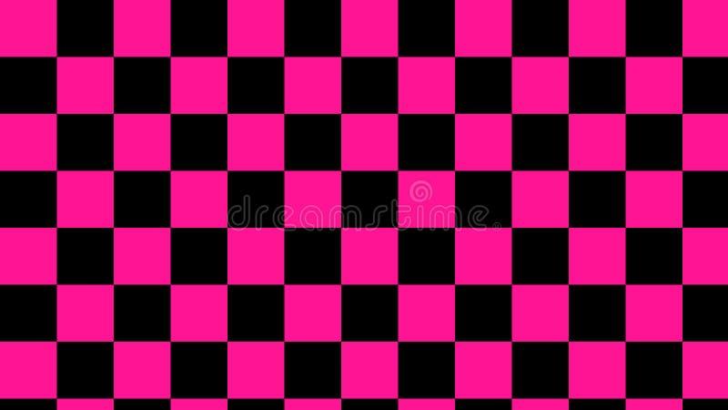 Ελεγμένο ρόδινο & μαύρο ανοικτό ροζ και βαθύ μαύρο άνευ ραφής σχέδιο τετραγώνων στοκ φωτογραφίες με δικαίωμα ελεύθερης χρήσης