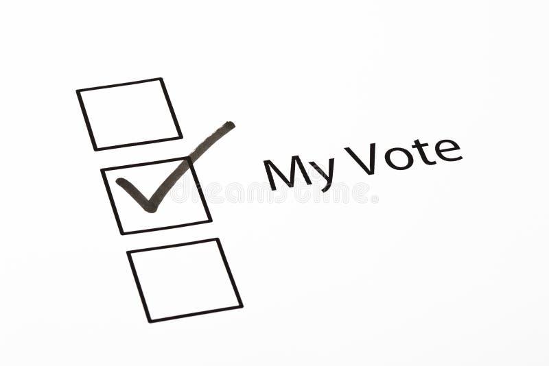 ελεγχμένη κιβώτιο ψηφοφ&omicro στοκ εικόνα
