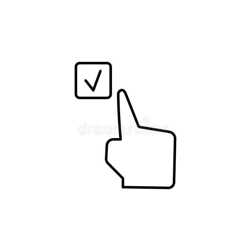 Ελεγχμένος, έλεγχος, εικονίδιο δάχτυλων Στοιχείο του εικονιδίου δωροδοκίας o ελεύθερη απεικόνιση δικαιώματος