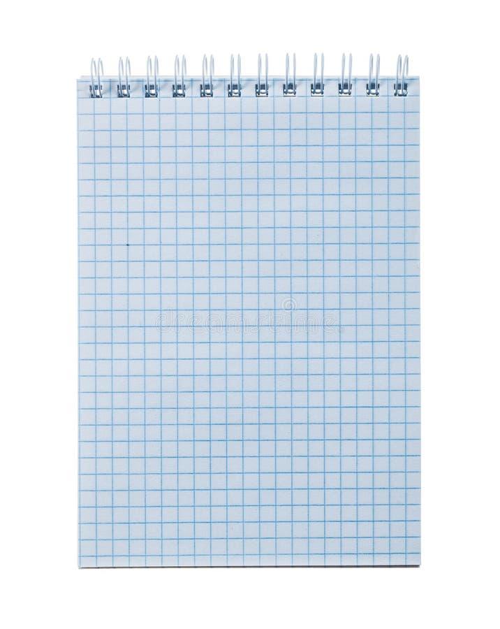 Ελεγχμένο σπείρα σημειωματάριο γραφείων που απομονώνεται στο λευκό στοκ φωτογραφίες με δικαίωμα ελεύθερης χρήσης