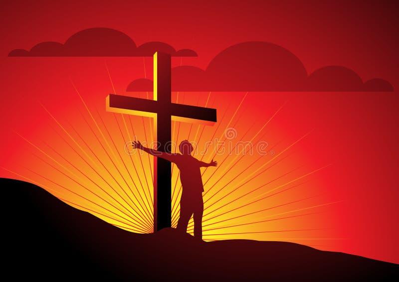 ελευθερία θρησκευτι&kapp διανυσματική απεικόνιση