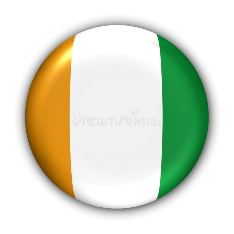 ελεφαντόδοντο σημαιών δ υπόστεγων ακτών ivoire διανυσματική απεικόνιση