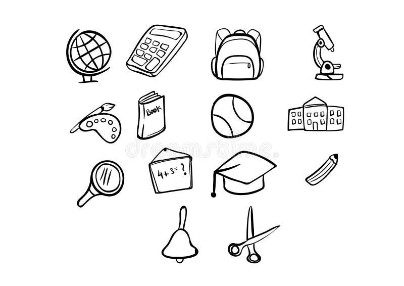 Ελεύθερα σχολικά στοιχεία σχεδίων πίσω σχολείο επίσης corel σύρετε το διάνυσμα απεικόνισης Σύνολο διανυσματική απεικόνιση