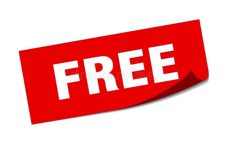 ελεύθερη αυτοκόλλητη ετικέττα ελεύθερη απεικόνιση δικαιώματος