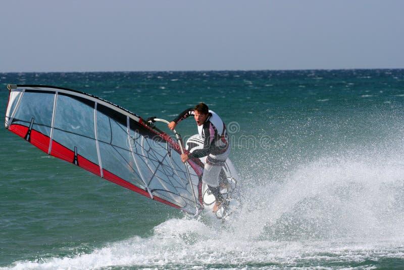ελεύθερη κολύμβηση windsurfer στοκ εικόνες