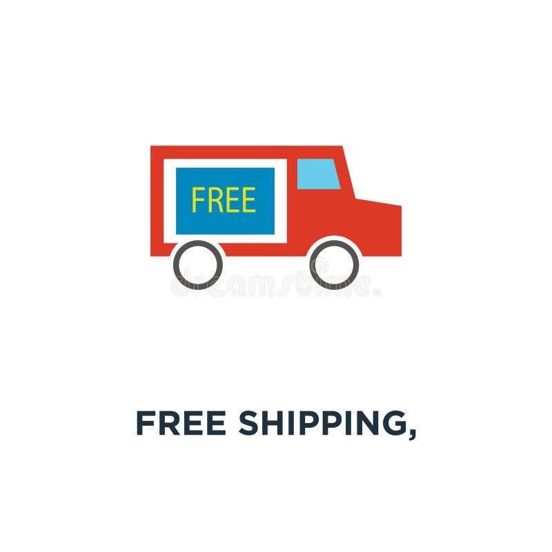 ελεύθερη ναυτιλία, φορτηγό παράδοσης, εικονίδιο σημαδιών υπηρεσιών παράδοσης ελεύθερος ελεύθερη απεικόνιση δικαιώματος