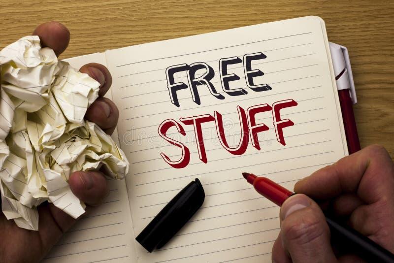Ελεύθερη ουσία κειμένων γραφής Έννοια που σημαίνει συμπληρωματικός απλήρωτο Chargeless δαπανών ανέξοδο δωρεάν που γράφεται χωρίς  στοκ εικόνες
