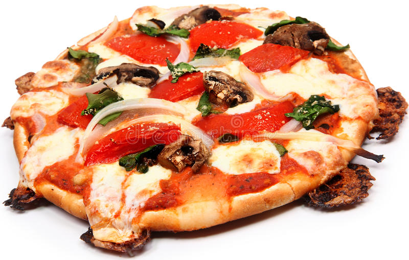Ελεύθερη πίτσα κρουστών γλουτένης στοκ εικόνες