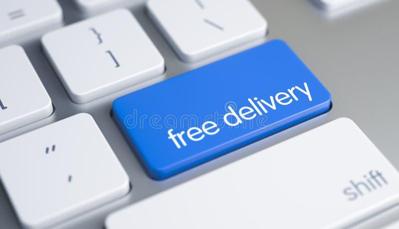 Ελεύθερη παράδοση - τίτλος στο μπλε αριθμητικό πληκτρολόγιο πληκτρολογίων τρισδιάστατος στοκ φωτογραφία με δικαίωμα ελεύθερης χρήσης