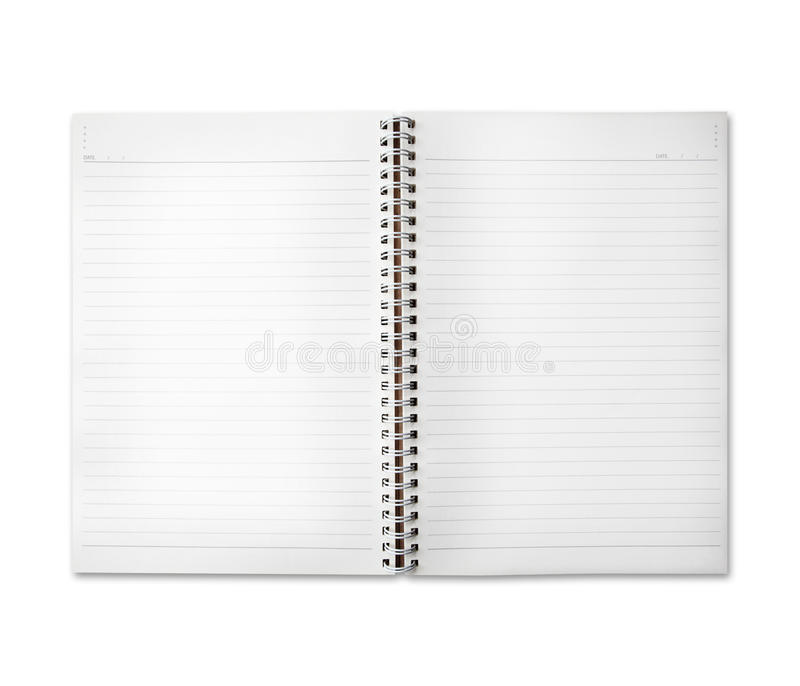 Ελεύθερου χώρου του εγγράφου σημειώσεων ημερολογίων στοκ εικόνα με δικαίωμα ελεύθερης χρήσης