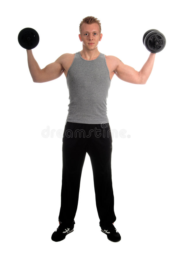 ελεύθερο βάρος workout στοκ φωτογραφία με δικαίωμα ελεύθερης χρήσης