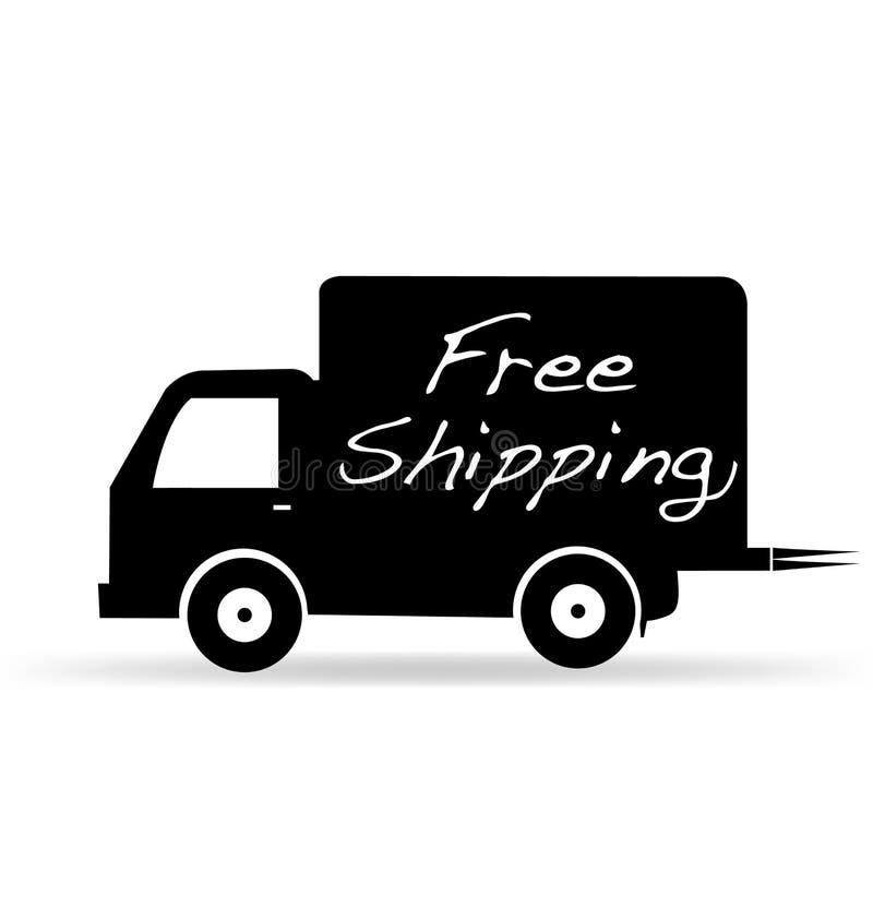 Ελεύθερο διάνυσμα εικονιδίων παράδοσης φορτηγών ναυτιλίας απεικόνιση αποθεμάτων