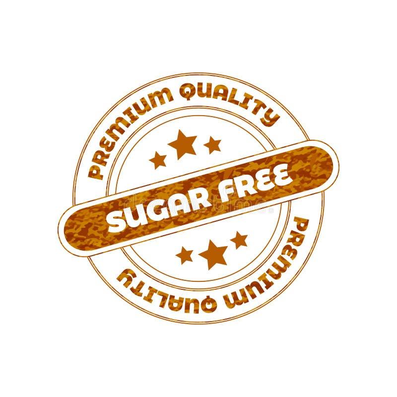 Ελεύθερο διανυσματικό γραμματόσημο ζάχαρης στοκ φωτογραφίες