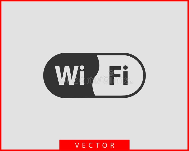 Ελεύθερο εικονίδιο FI WI Διανυσματικό σύμβολο wifi ζώνης σύνδεσης Σήμα ραδιο κυμάτων διανυσματική απεικόνιση