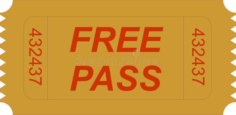 ελεύθερο εισιτήριο περ ελεύθερη απεικόνιση δικαιώματος