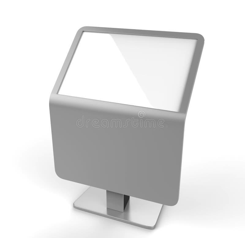 Ελεύθερο πάτωμα που στέκεται το περίπτερο οθόνης αφής LCD η τρισδιάστατη απεικόνιση δίνει ελεύθερη απεικόνιση δικαιώματος