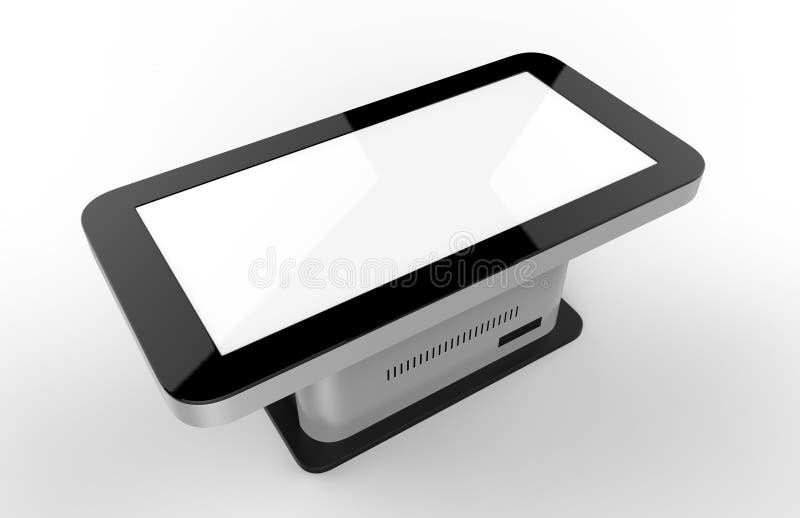 Ελεύθερο πάτωμα που στέκεται το περίπτερο οθόνης αφής LCD η τρισδιάστατη απεικόνιση δίνει διανυσματική απεικόνιση