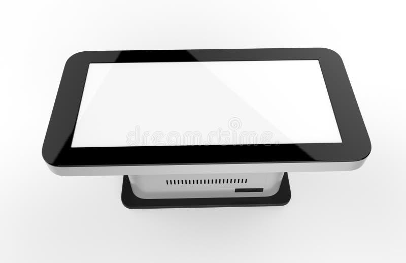Ελεύθερο πάτωμα που στέκεται το περίπτερο οθόνης αφής LCD η τρισδιάστατη απεικόνιση δίνει απεικόνιση αποθεμάτων