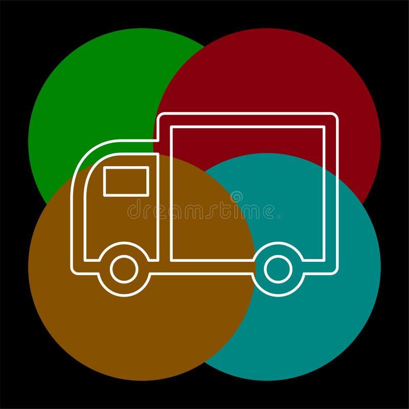 Ελεύθερο στέλνοντας εικονίδιο, απεικόνιση φορτηγών παράδοσης ελεύθερη απεικόνιση δικαιώματος