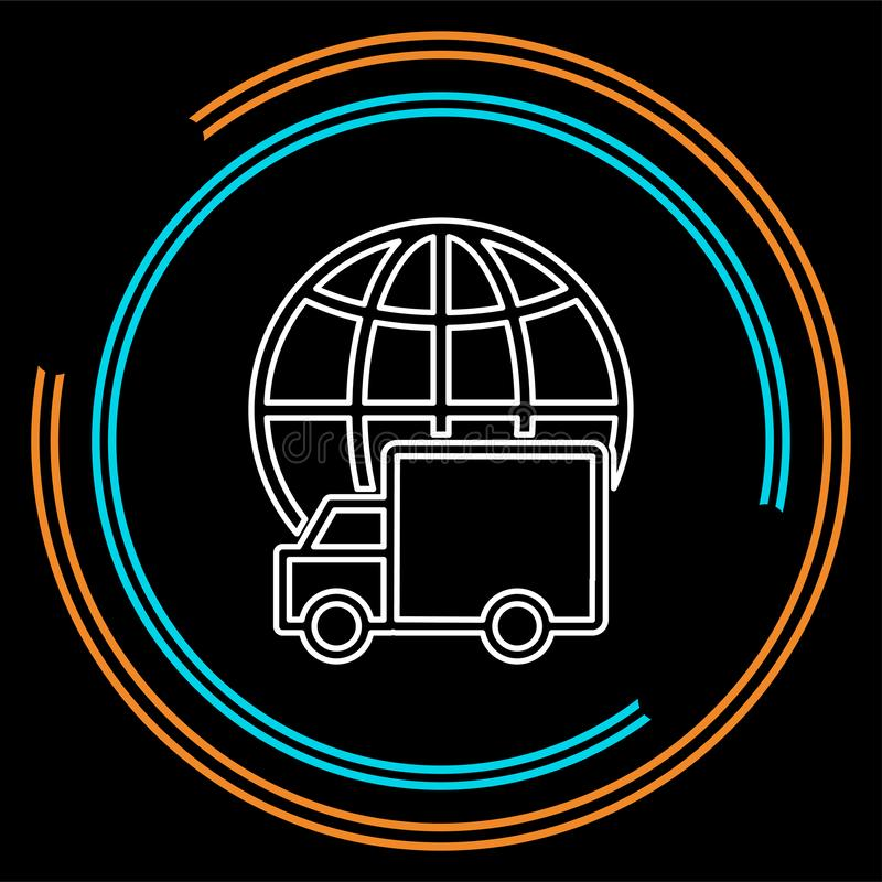 Ελεύθερο στέλνοντας εικονίδιο, απεικόνιση φορτηγών παράδοσης απεικόνιση αποθεμάτων