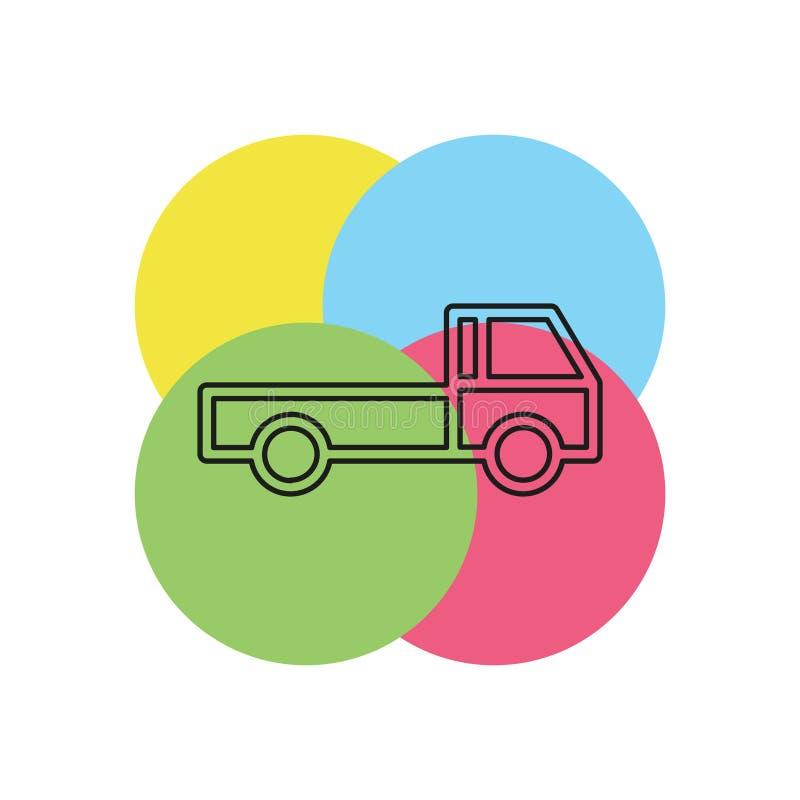 Ελεύθερο στέλνοντας εικονίδιο, απεικόνιση φορτηγών παράδοσης διανυσματική απεικόνιση