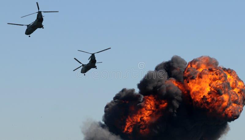 ελικόπτερα πυρκαγιάς στοκ εικόνες