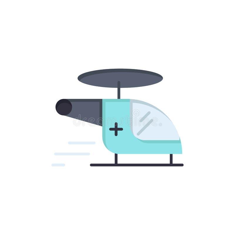 Ελικόπτερο, μπαλτάς, ιατρικός, ασθενοφόρο, επίπεδο εικονίδιο χρώματος αέρα Διανυσματικό πρότυπο εμβλημάτων εικονιδίων διανυσματική απεικόνιση