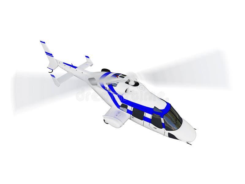 ελικόπτερο πέρα από το λε&up διανυσματική απεικόνιση