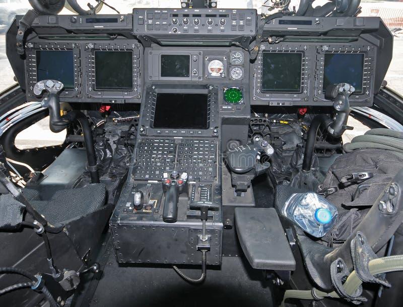 ελικόπτερο πιλοτηρίων στοκ φωτογραφία