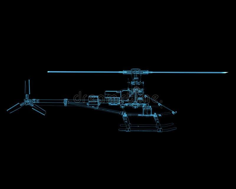 Ελικόπτερο που απομονώνεται στο Μαύρο ελεύθερη απεικόνιση δικαιώματος